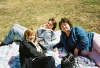 Donna MacKenzie, Ati Petrov and Heather McKenzie enjoying the sun at Apple Hill on a recent Spring day.